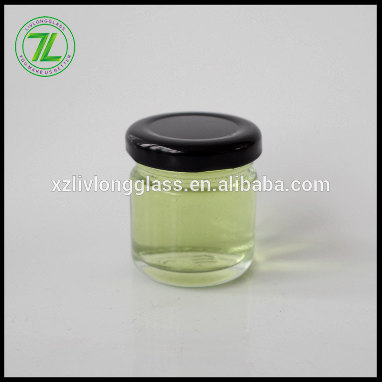 free sample 30ml jam jar 1oz small cylinder glass bottle with lid