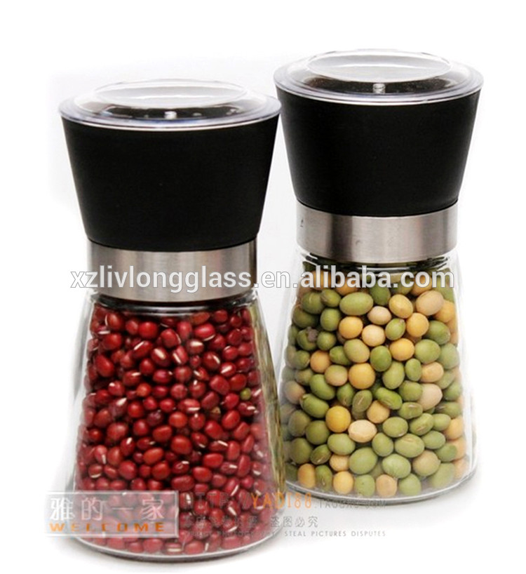 6oz 180ml glass salt spice or pepper bottle with mill grinder Featured Image