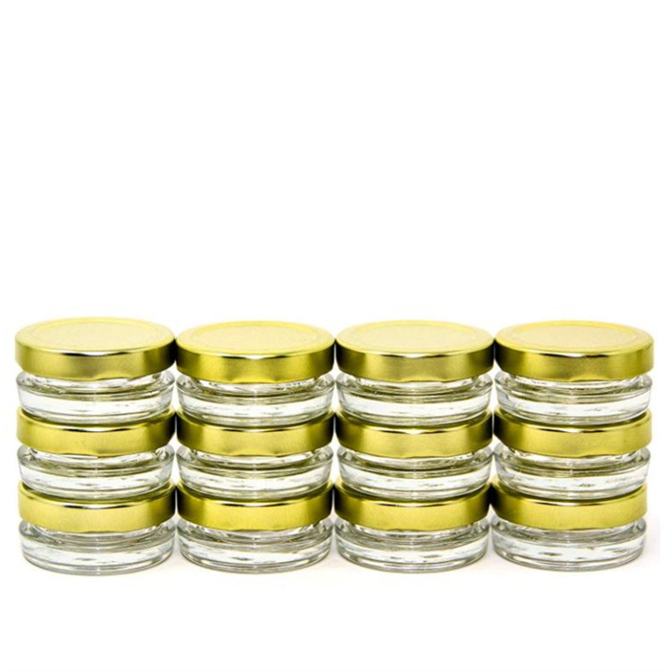 Hot Sale for Amber Cosmetic Glass Jar - 2oz caviar glass jar with metal lid – LIVLONG