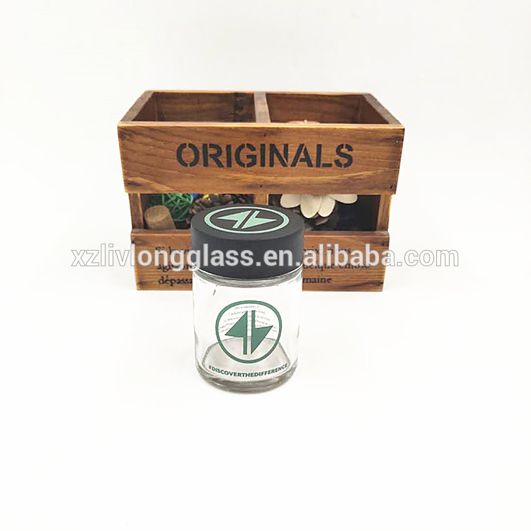 lowest price CBD resistant glass jar 90ml with plastic childproof lid for cosmetic packaging or herbs weeds 3oz