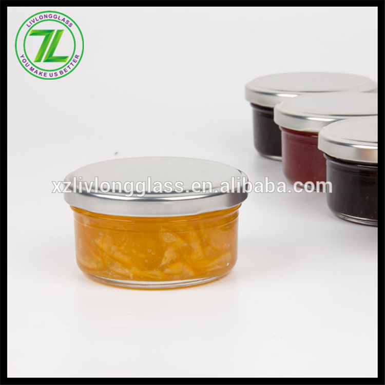 factory Outlets for Clear Glass Candy Jars - 60ml glass jar caviar jar honey jar with tin cap – LIVLONG