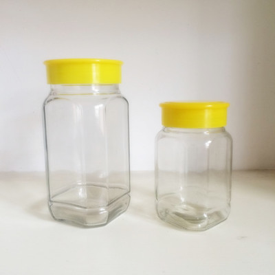 2017 New Style Clamp Glass Bottles - Wholesale clear bottle  big octagonal honey glass bottle jam jar lead-free 1000ml – LIVLONG