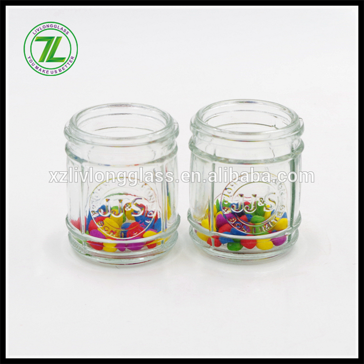 Custom Made Glass Jar for Jam/Glass Honey Jar with Metal Lid