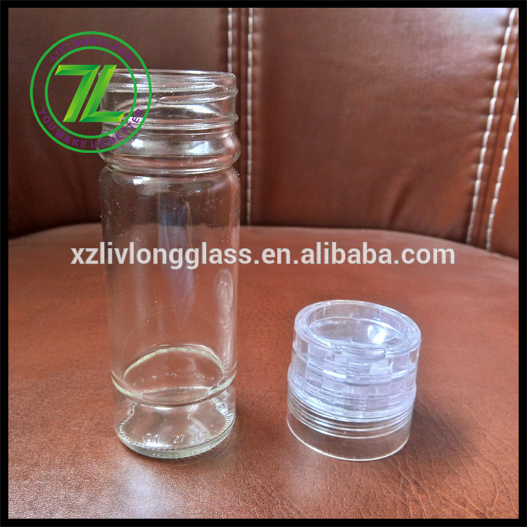 100ml round tall clear spcie and salt mill