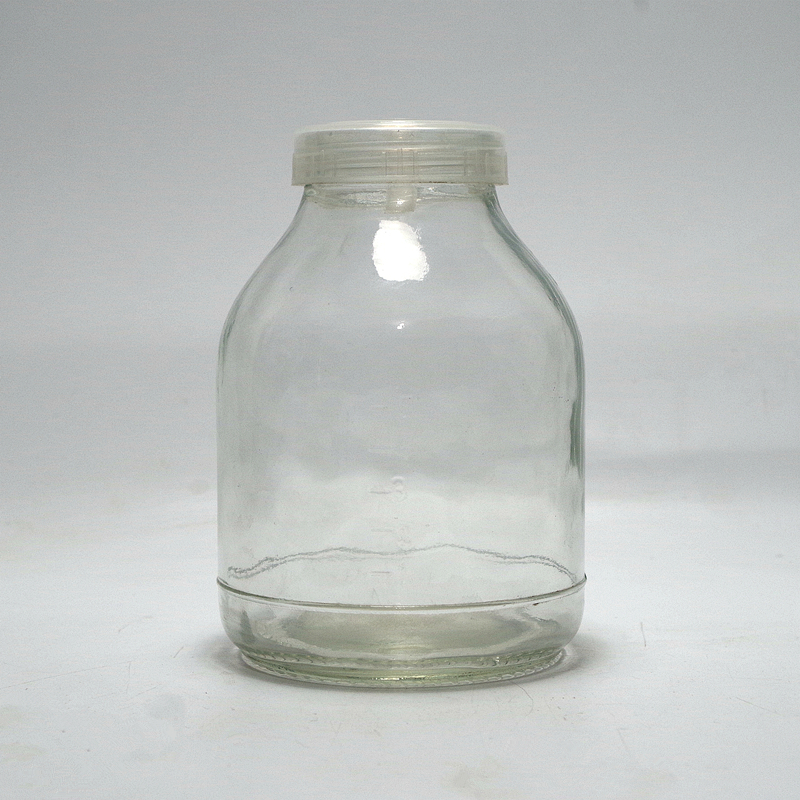 factory promotion recycle tissue culture seeding fungus glass bottle  orchid cordyceps sinensis jar with breathable cover