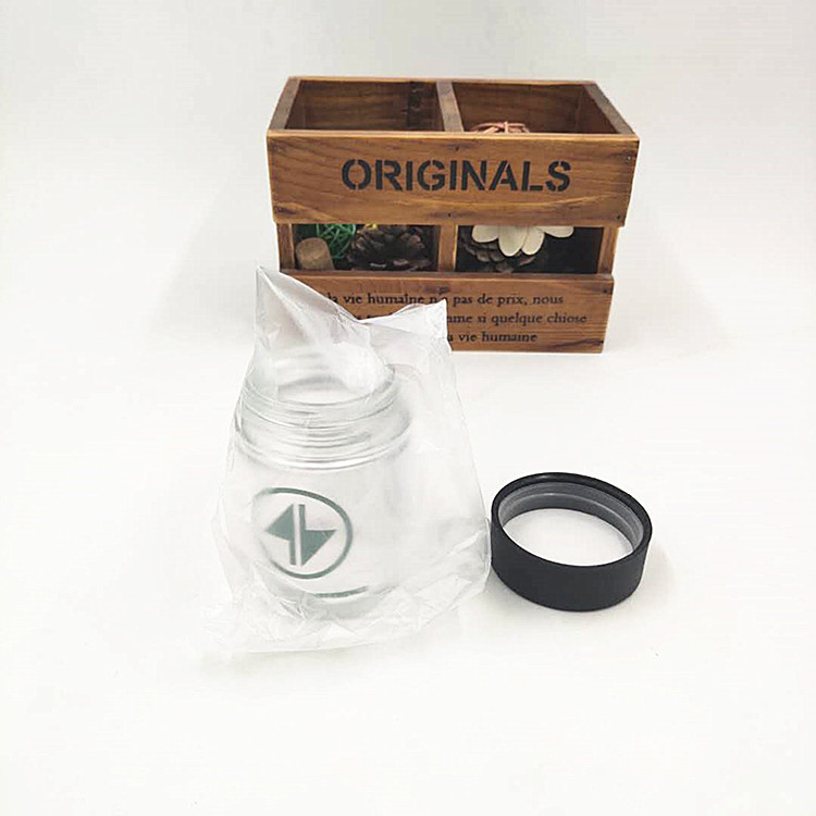 In stocked 3oz CBD resistant glass jar with plastic child proof lid for cosmetic packaging or herbs weeds 90ml