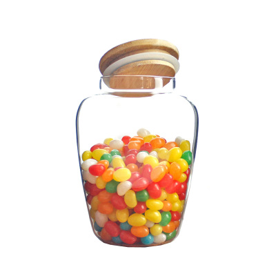 Glass sealed cans round belly flower tea glass jars storage tanks kitchen household  bottle can be customized