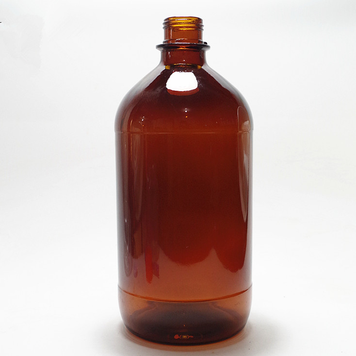 1050ml 35oz high capacity amber glass bottle pill liquid chemical glass bottle
