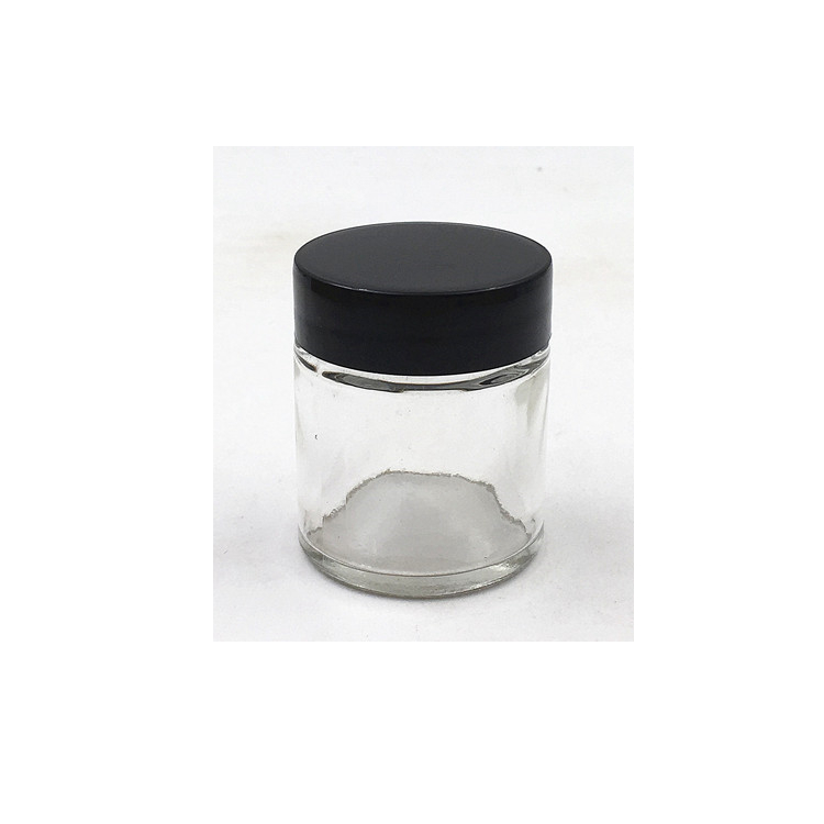 1oz 30ml Glass Fancy Mini Straight Sided Jar With Cap
