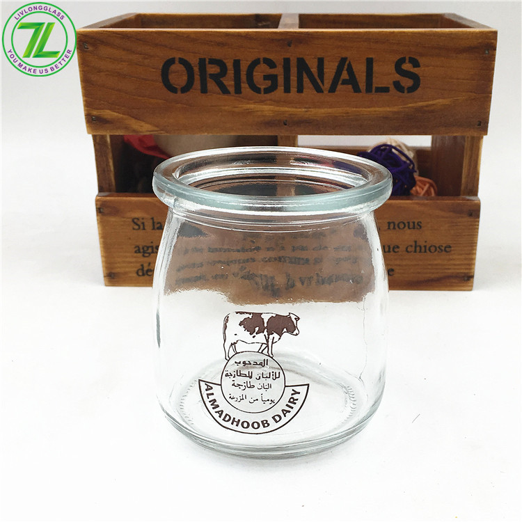 6oz 180ml Wide Mouth Glass Pudding Jar With Plastic Lid