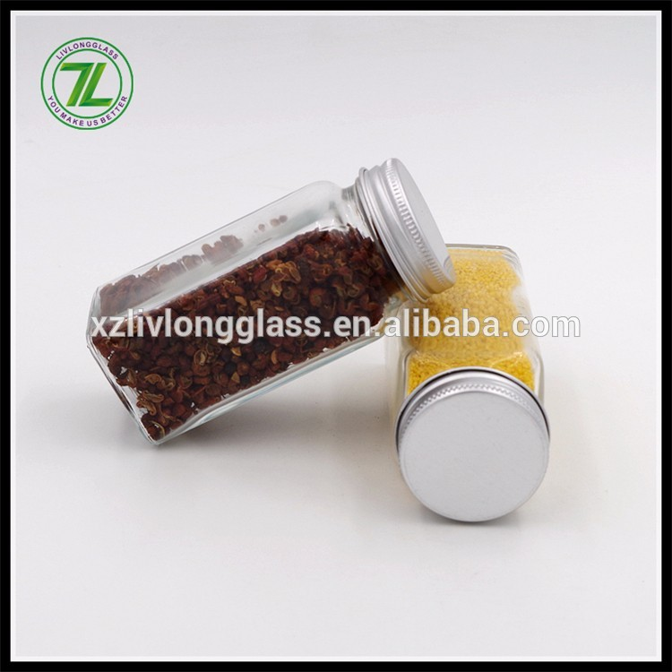 120ml glass spice jar with shaker and aluminum lid