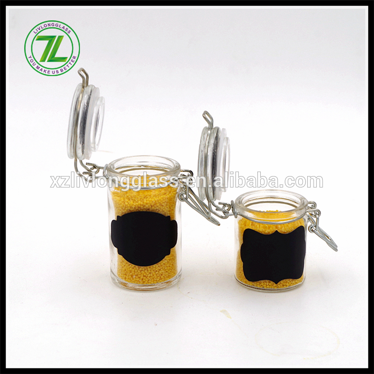 70ml glass spice salt jam jar with clip lid Featured Image