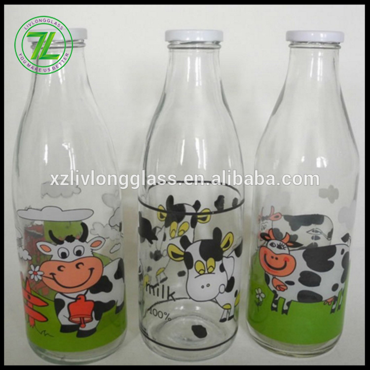 Low price for Childproof Package - custom design metal twist off cap sealing type 1liter empty 1000ml glass bottles for milk – LIVLONG