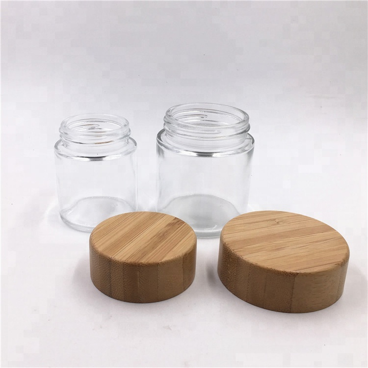 factory customized Travel Lotion Bottle - CBD resistant glass jar with wood grain child proof lid for cosmetic packaging or herbs  weeds 240ml 8oz – LIVLONG