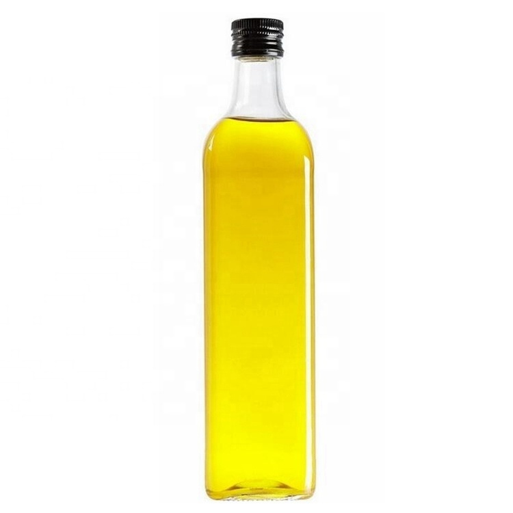 500ml Clear Square Olive Oil Glass Bottles with Tamper proof Cap