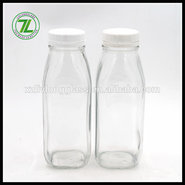 cold pressed glass juice bottle