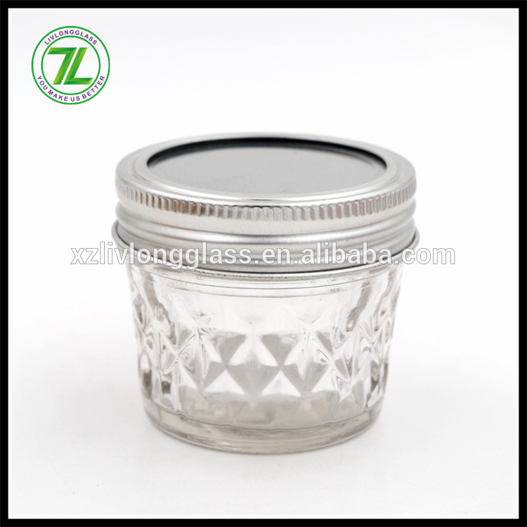 vintage design 100ml 3.5oz wide mouth glass canning mason jar with separate lid Featured Image