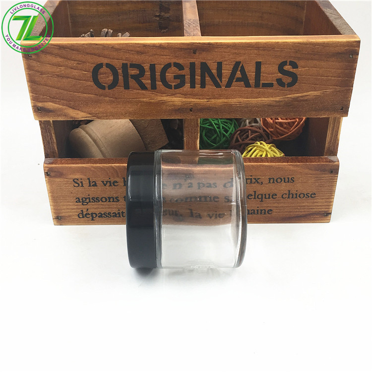 4oz 120ml Glass Straight Sided Weeds Jars Child Resistant Container With Child Proof Lid