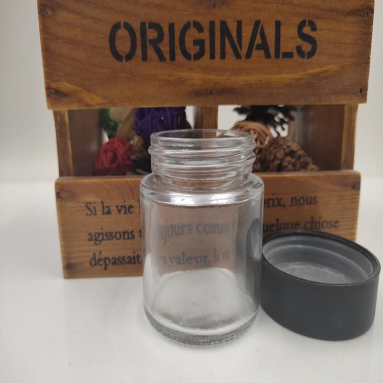wholesale 80ml child proof jar glass weeds package bottle with child resistant lid