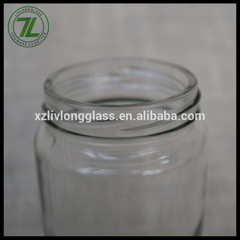 white twist off lid sealing type 330ml cylinder packaging 11oz clear glass jar for masala spices