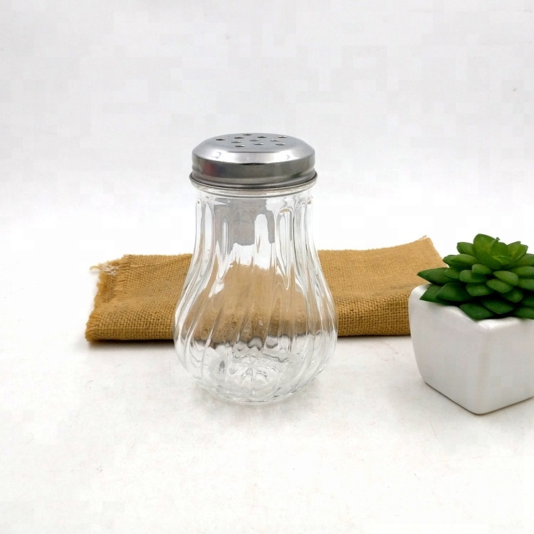 large salt bottle 200ml pepper packaging 8oz glass spice jar with shaker lids