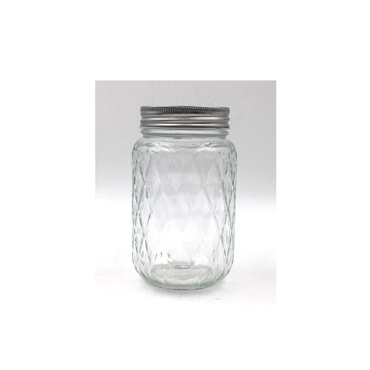 500ml Glass Mason Jar Glass Beverage Milk Cold Pressed Juice Bottle With Screw Lid And Straw