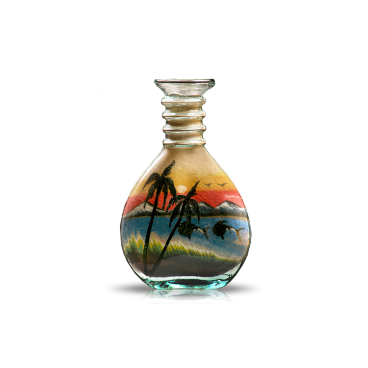 customize 120ml decorative packaging 4oz empty sand art glass bottle with cheap price