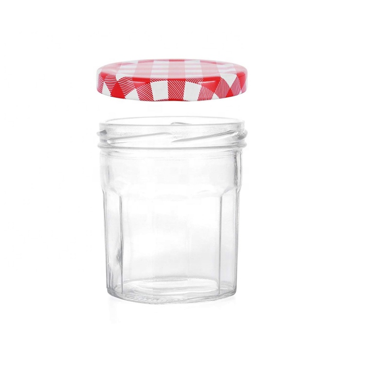 High definition 16oz Glass Storage Container - hot sale 250ml empty Jam container 8oz French Bonne Maman bottle 6 Pack airtight glass canning jar for pickle and wedding jelly – LIVLONG