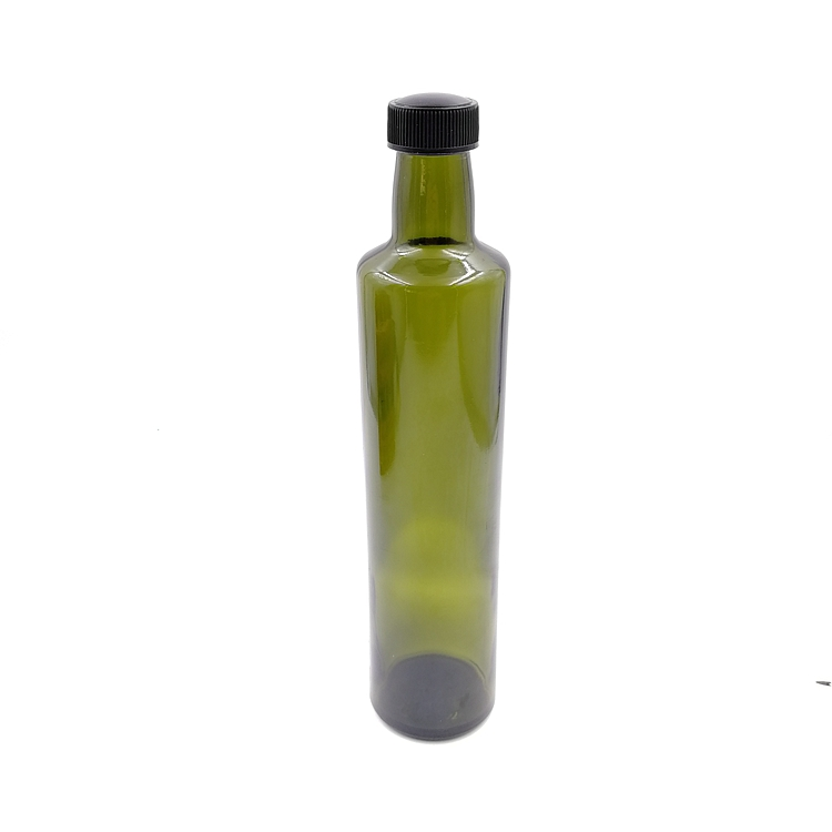 Cheapest Factory Coffee Glass Bottles - printing green cooking olive oil glass bottle kitchenware soy sauce vinegar glass bottle with heat shirnk film 250ml 500ml 750ml – LIVLONG