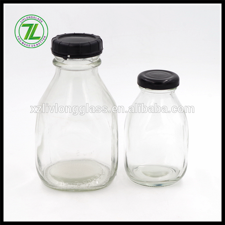 cold pressed juice use 16oz 475ml glass square bottle with plastic cap