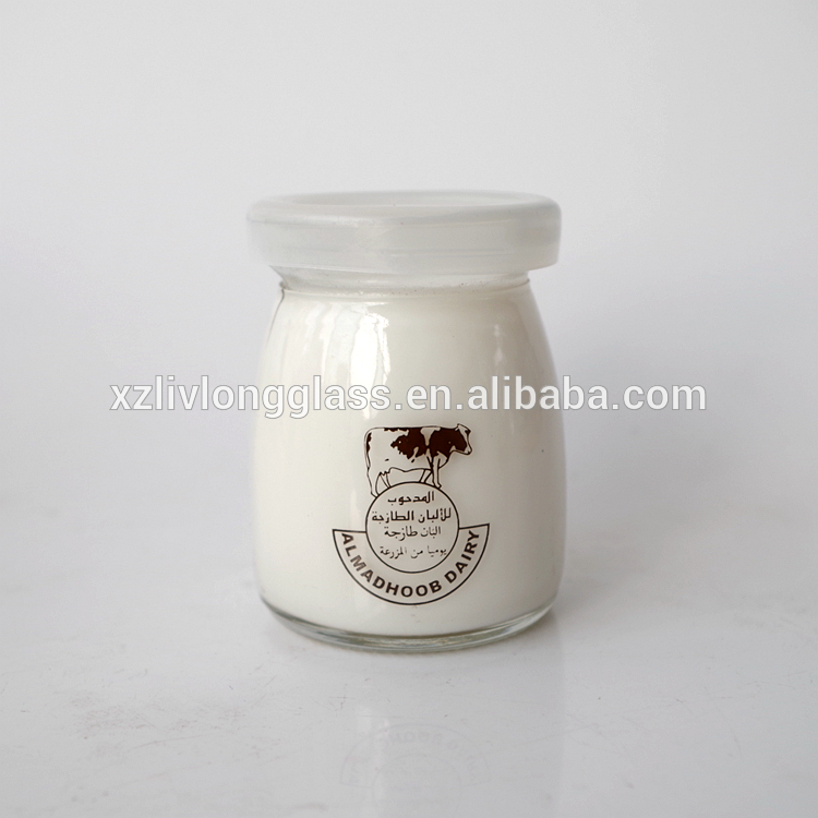 100ml glass screw cap pudding jar