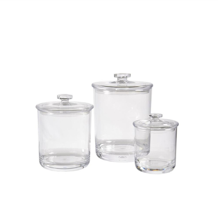 16 oz borosilicate storage glass jar with steel lid for candy