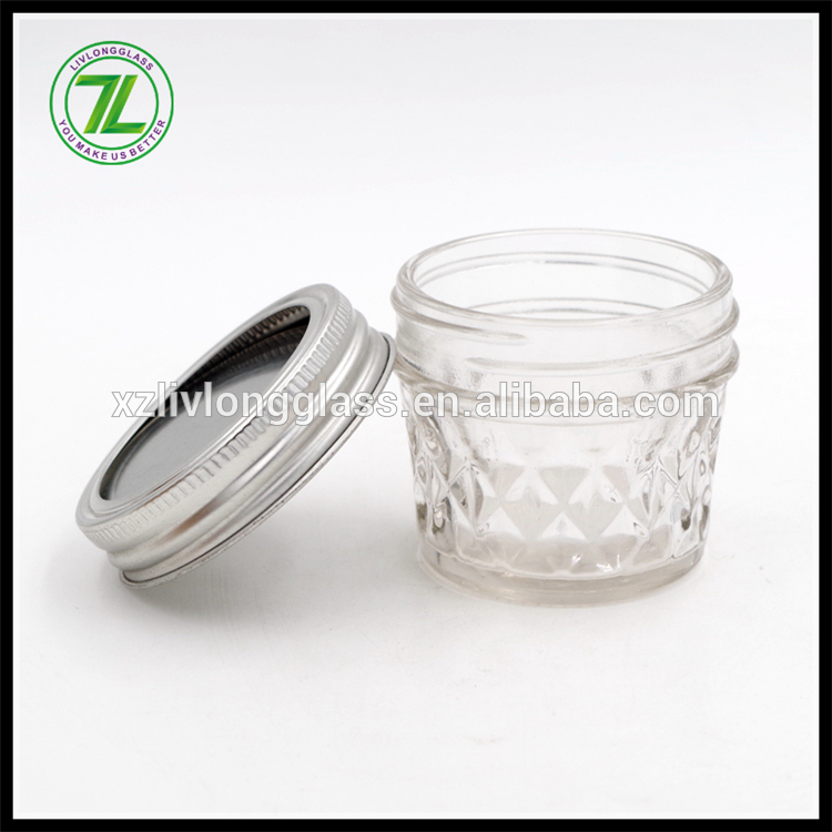 vintage design 100ml 3.5oz wide mouth glass canning mason jar with separate lid