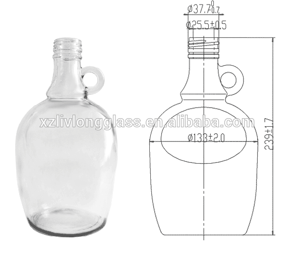 1.5l Clear Glass Wine Jug With Screw Cap