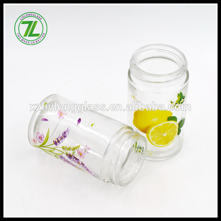 6oz/170ml glass spice jar with screen printing