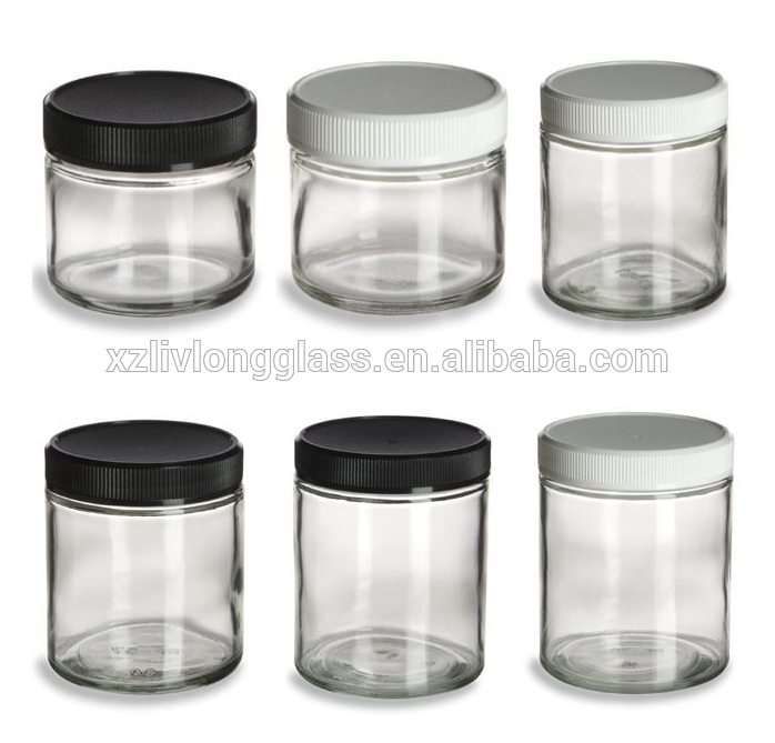 Straight Sided Phrmacuetical Bottle Jar Vial with Plastic Screw Cap