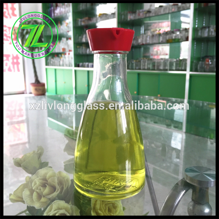 150ml soya sauce glass bottle with hole plastic cap