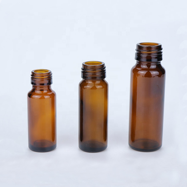 syrub packaging 20ml 30ml 50ml oral liquid amber glass bottle with aluminum tamper proof screw caps