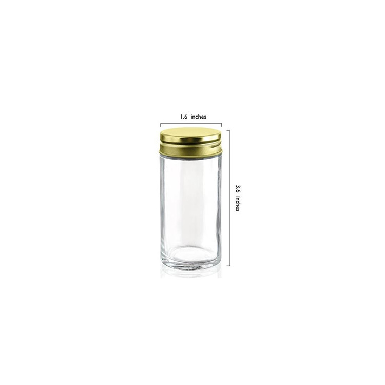 Glass Spice Jars with Shaker Lids and Chalkboard Sticker Labels 4oz Featured Image