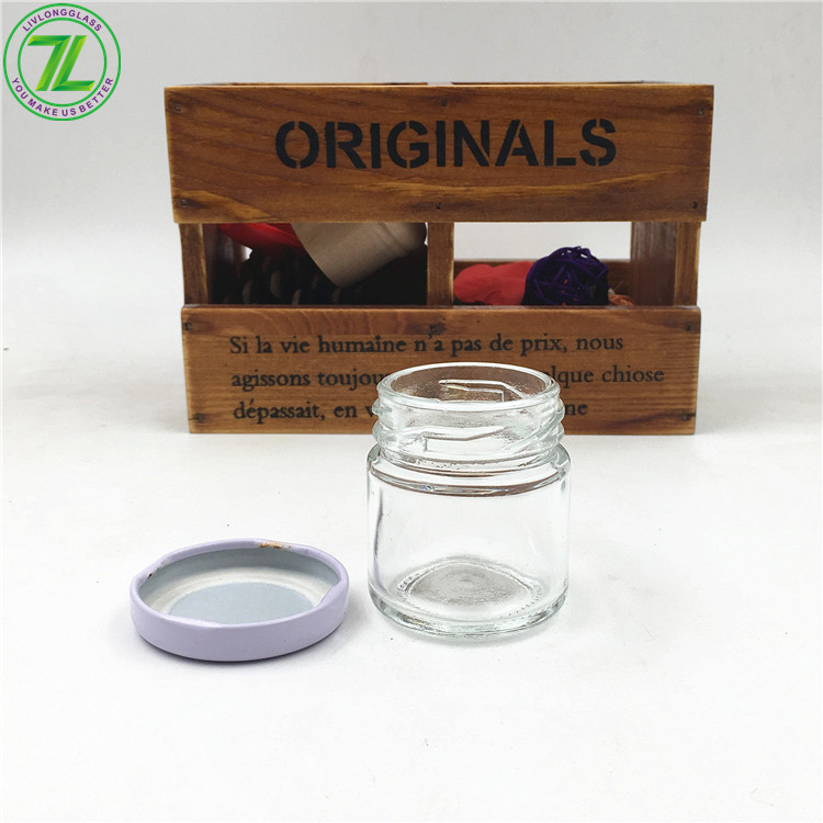 High Quality for 2 Oz Glass Container - 1oz Glass Round Mini Glass Mason Jar With Metal Lid – LIVLONG