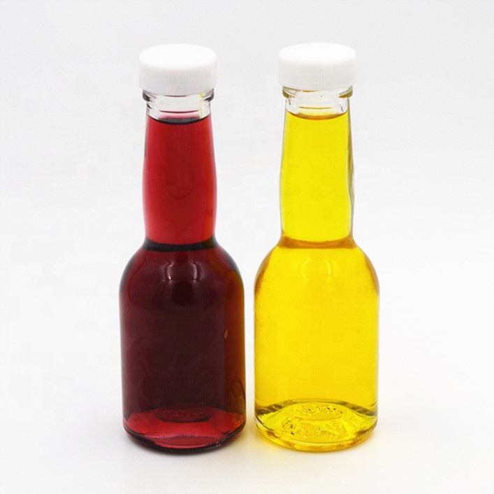 small clear cheap cooking olive oil glass bottle  for soy sauce vinegar ketchup glass bottle with plastic screw cap 180ml