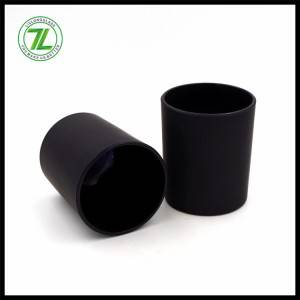 300ml frosted black glass candle holder