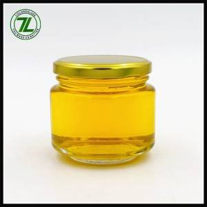 custom design 200ml jelly glass jar 7oz round jam jar with gold lid