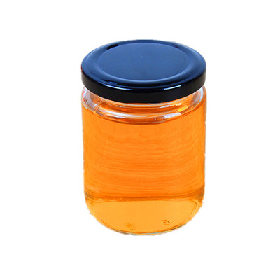 wholesale glass jar for honey round glass bottle with Metal cover 240ml 350ml 450ml