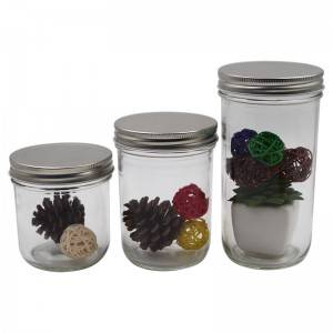 Smooth Sided Food Jar With Metal Lid
