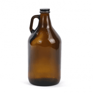 cruche demi gallon / growler en verre 64 oz