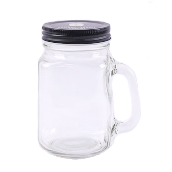 Ordinary Discount Penny Clear Glass Candy Jar - Hot Selling Glass Mason Jars With Handle straw and lids. – LOM