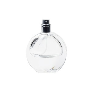Cheapest Price Empty Perfume Glass Bottle - Flat Round 30ml Perfume Glass Bottle With Spray Lid  – LOM