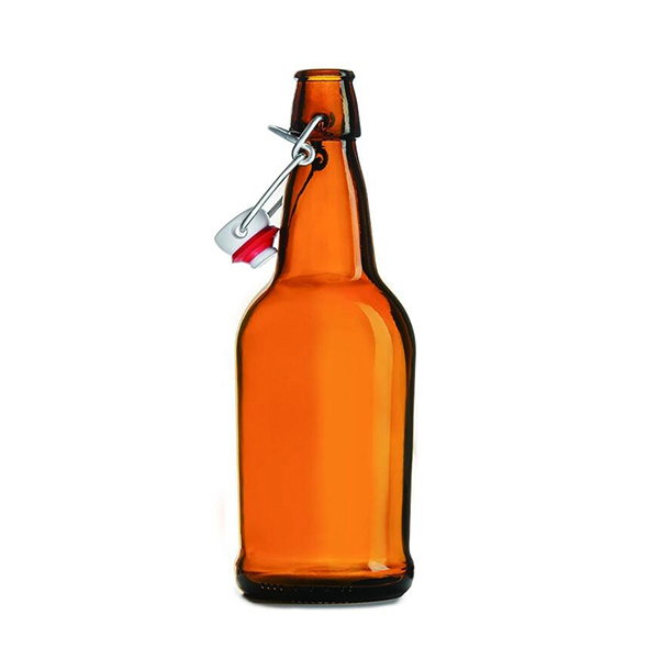 OEM/ODM Manufacturer 1000ml Clear Beer Wine Bottle - 32Oz Swing Top Wine Empty Amber Glass With Stainless Cap Beer Bottle – LOM