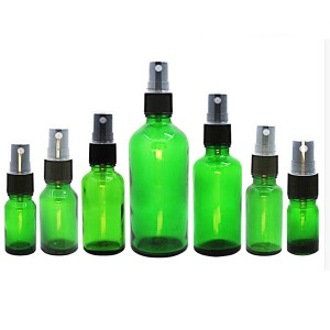 4OZ Green Glass Gold stantsimine Essential Oil pudelid